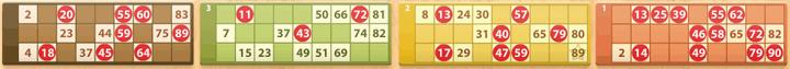 Cartón de bingo
